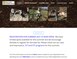 farmandgardencamp.org screenshot