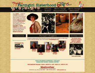 farmgirlsisterhood.org screenshot
