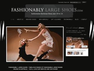 fashionablylargeshoes.com.au screenshot