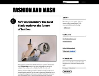 fashionandmash.wordpress.com screenshot