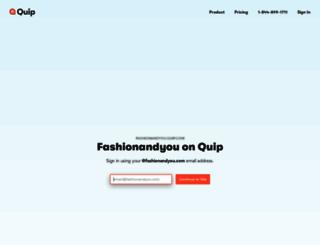 fashionandyou.quip.com screenshot