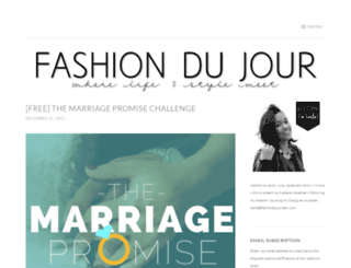 fashiondujourdaily.wordpress.com screenshot