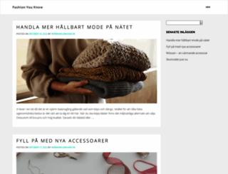 fashionyouknow.se screenshot
