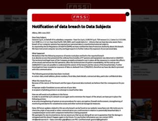 fassi.com screenshot