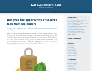 fastandfriendlyloanss.wordpress.com screenshot