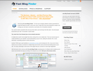 fastblogfinder.com screenshot