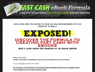 fastcashebookformula.com screenshot