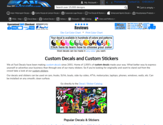fastdecals.com screenshot