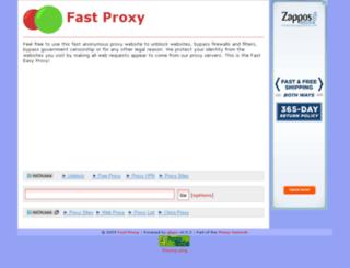 fasteasyproxy.com screenshot
