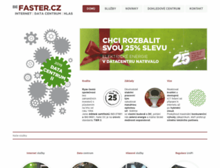 faster.cz screenshot