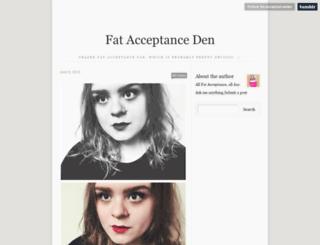 fat-acceptanceden.tumblr.com screenshot