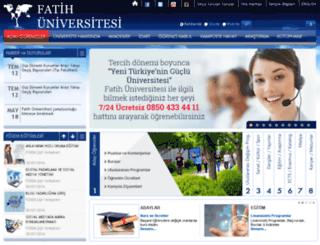 fatih.edu.tr screenshot