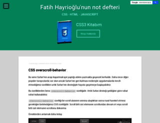 fatihhayrioglu.com screenshot