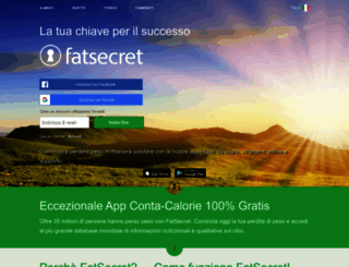 fatsecret.it screenshot