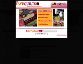 favequilts.com screenshot