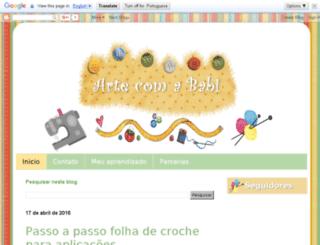 fazendoartecomababi.blogspot.com.br screenshot