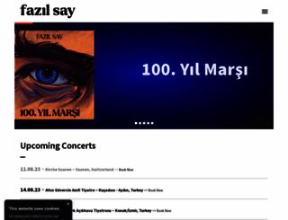 fazilsay.com screenshot