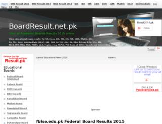 fbise.boardresult.net.pk screenshot