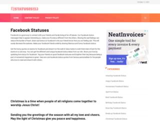 fbstatuses123.com screenshot