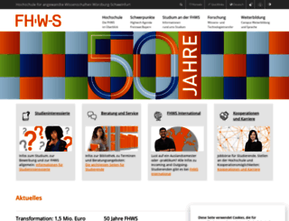 fbw.fhws.de screenshot