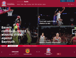 fcb-basketball.de screenshot