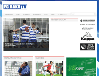 fcbaku.tv screenshot