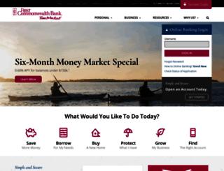 fcbankingbusinessonline.com screenshot