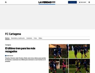 fccartagena.laverdad.es screenshot