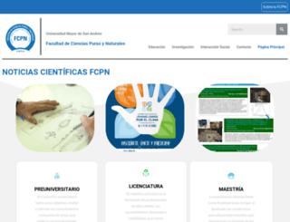 fcpn.edu.bo screenshot