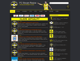 fcslovanrosice.cz screenshot
