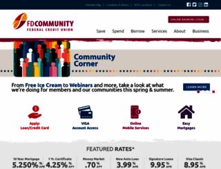 fdcommunityfcu.org screenshot