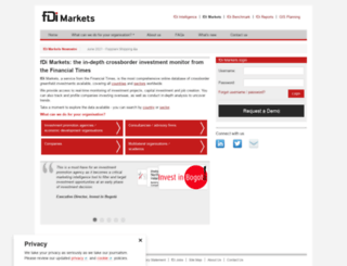 fdimarkets.com screenshot