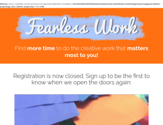 fearlesswork.com screenshot