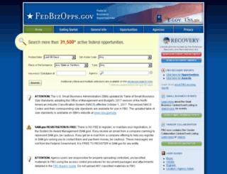 fedbizopps.gov screenshot