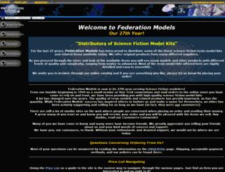 federationmodels.com screenshot