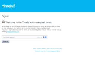 feedback.gettimely.com screenshot