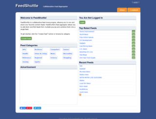feedshuttle.com screenshot