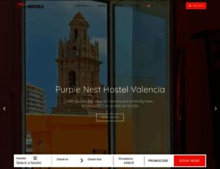 feetuphostels.com screenshot