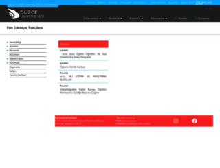 fef.duzce.edu.tr screenshot