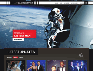 felixbaumgartner.com screenshot