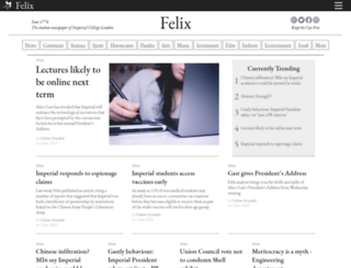 felixonline.co.uk screenshot