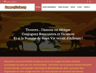 femme-africaine.org screenshot