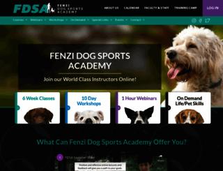 fenzidogsportsacademy.com screenshot