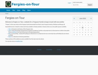 fergiesontour.org screenshot