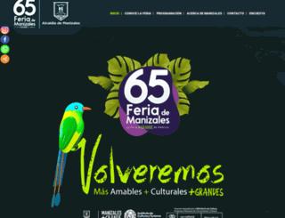 feriademanizales.gov.co screenshot