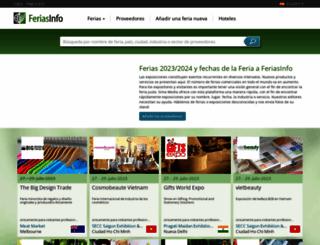 feriasinfo.es screenshot