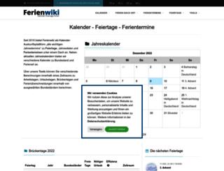 ferienwiki.de screenshot