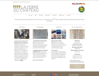 fermeduchateau.fr screenshot
