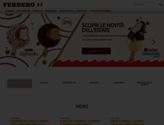 ferrero.it screenshot