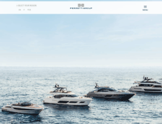 ferrettigroup-yacht.com screenshot